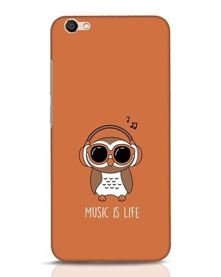 Shop Owl Headphones Vivo V5 Mobile Cover-Front