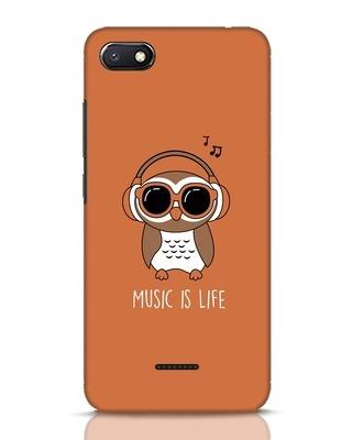 Shop Owl Headphones Xiaomi Redmi 6A Mobile Cover-Front