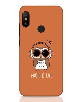 Shop Owl Headphones Xiaomi Redmi Note 6 Pro Mobile Cover-Front