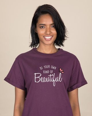 Shop Own Kind Of Beautiful Boyfriend T-Shirt-Front