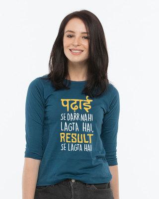 Buy Padhai Se Darr Round Neck 3/4th Sleeve T-Shirt Online India @ Bewakoof.com