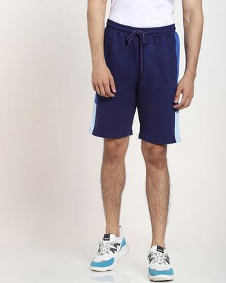 Shop Multicolor Plain Cut N Sew Fashion Shorts-Front