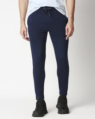Shop Pageant Blue Men's Drop Crotch Joggers-Front