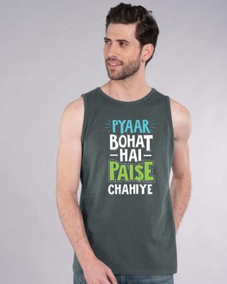 Shop Paise Chahiye Vest-Front