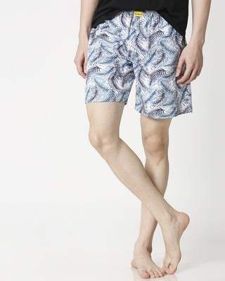 Shop Palm Leaves Side Pocket Men's Boxers-Front