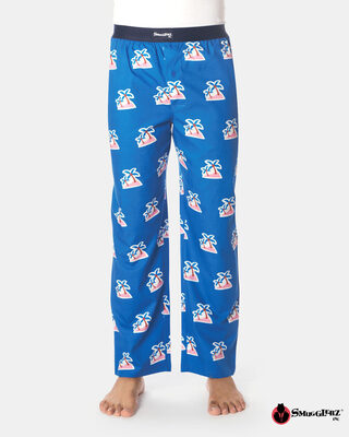 Shop Smugglerz Palm Tree Pyjamas Navy-Front