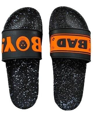 Shop Pampy Angel BadBoy Style Orange Slipper FlipFlops Slides for Men-Front