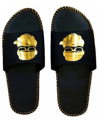 Shop Pampy Angel Flat Baba Gold Slipper FlipFlops Slides for Men-Front