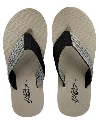 Shop Pampy Angel V Wave Grey Slipper FlipFlops Slides for Men-Front