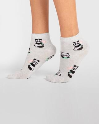 Shop Panda Bouquet Ankle Length Socks-Front