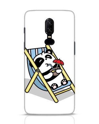 Shop Panda Chilling OnePlus 6 Mobile Cover-Front