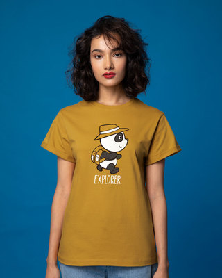 Shop Panda Explorer Boyfriend T-Shirt-Front