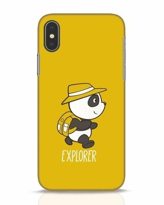 Shop Panda Explorer iPhone X Mobile Cover-Front