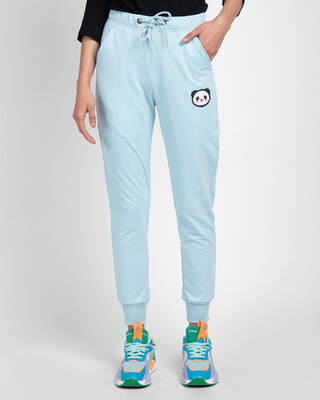 Shop Panda Face Casual Badge Jogger Pants-Front