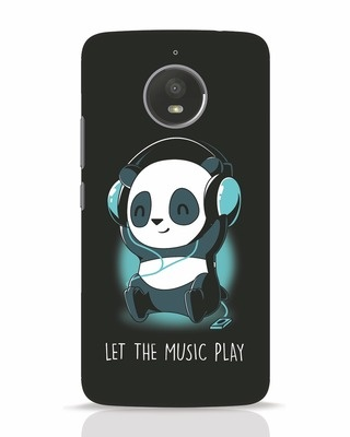 Shop Panda Headphones Moto E4 Plus Mobile Cover-Front