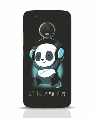 Shop Panda Headphones Moto G5 Plus Mobile Cover-Front