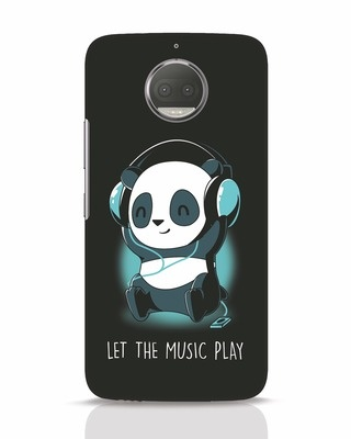 Shop Panda Headphones Moto G5s Plus Mobile Cover-Front