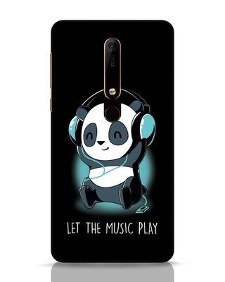 Shop Panda Headphones Nokia 6.1 Mobile Cover-Front