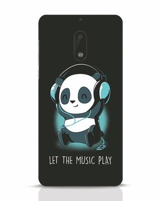 Shop Panda Headphones Nokia 6 Mobile Cover-Front