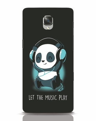 Shop Panda Headphones OnePlus 3 Mobile Cover-Front