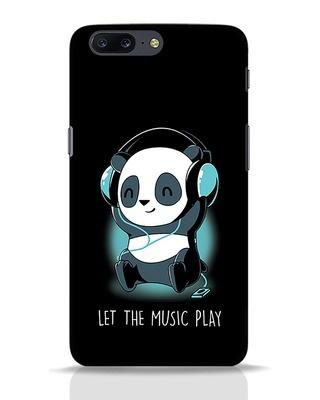 Shop Panda Headphones OnePlus 5 Mobile Cover-Front