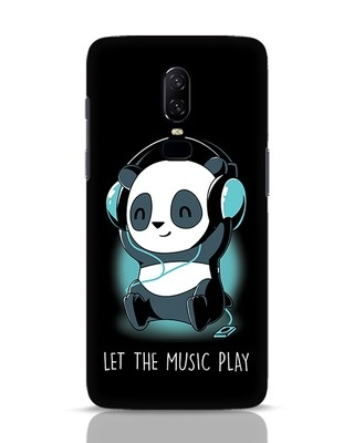 Shop Panda Headphones OnePlus 6 Mobile Cover-Front