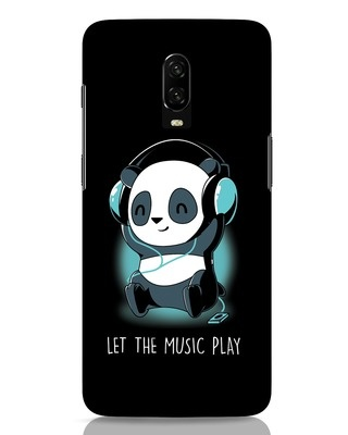 Shop Panda Headphones OnePlus 6T Mobile Cover-Front