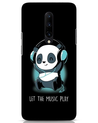 Shop Panda Headphones OnePlus 7 Pro Mobile Cover-Front