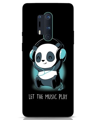 Shop Panda Headphones OnePlus 8 Pro Mobile Cover-Front