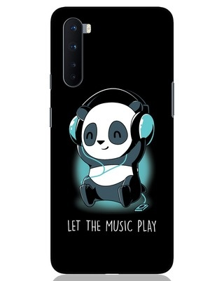 Shop Panda Headphones OnePlus Nord Mobile Cover-Front