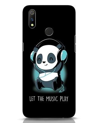 Shop Panda Headphones Realme 3 Pro Mobile Cover-Front