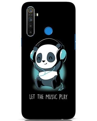 Shop Panda Headphones Realme 5 Mobile Cover-Front