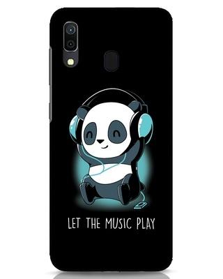 Shop Panda Headphones Samsung Galaxy A30 Mobile Cover-Front
