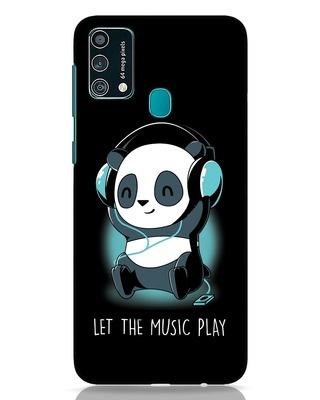 Shop Panda Headphones Samsung Galaxy F41 Mobile Cover-Front