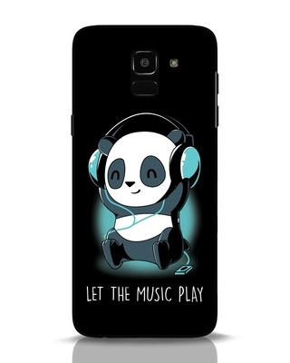 Shop Panda Headphones Samsung Galaxy J6 Mobile Cover-Front