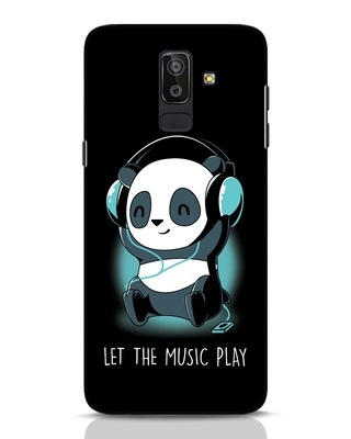 Shop Panda Headphones Samsung Galaxy J8 Mobile Cover-Front