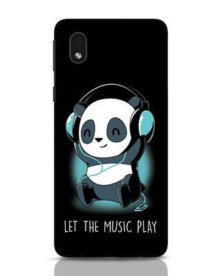 Shop Panda Headphones Samsung Galaxy M01 Mobile Cover-Front