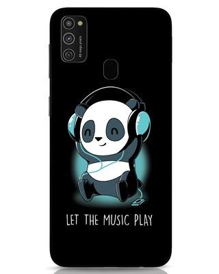 Shop Panda Headphones Samsung Galaxy M21 Mobile Cover-Front