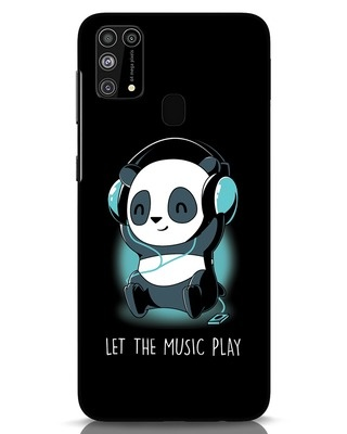Shop Panda Headphones Samsung Galaxy M31 Mobile Cover-Front