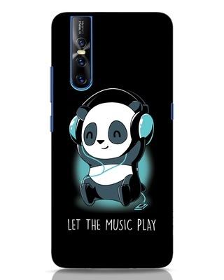 Shop Panda Headphones Vivo V15 Pro Mobile Cover-Front