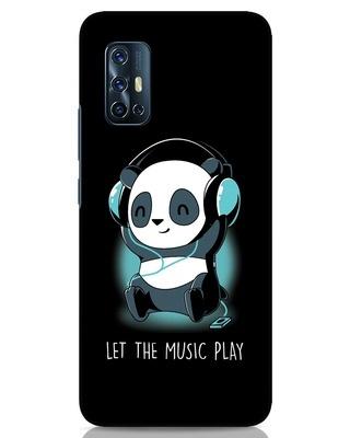 Shop Panda Headphones Vivo V17 Mobile Cover-Front