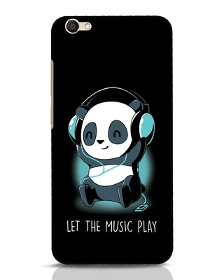 Shop Panda Headphones Vivo V5 Mobile Cover-Front