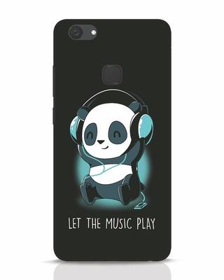 Shop Panda Headphones Vivo V7 Plus Mobile Cover-Front