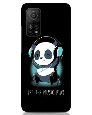 Shop Panda Headphones Xiaomi Mi 10T Mobile Cover-Front