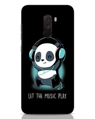 Shop Panda Headphones Xiaomi POCO F1 Mobile Cover-Front