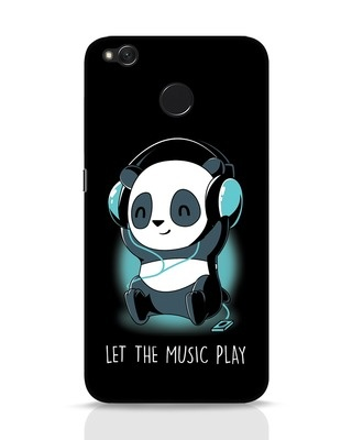 Shop Panda Headphones Xiaomi Redmi 4 Mobile Cover-Front