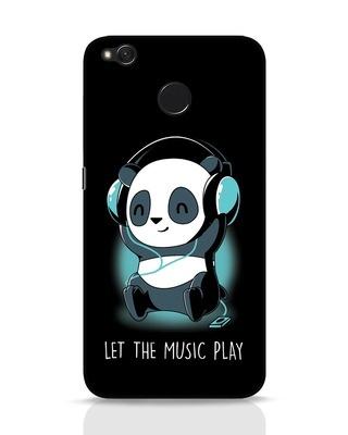 Shop Panda Headphones Xiaomi Redmi 4 Mobile Cover-Front