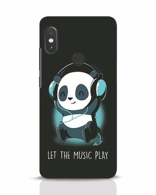 2d80769f55c white stub Shop Panda Headphones Xiaomi Redmi Note 5 Pro Mobile Cover-Front