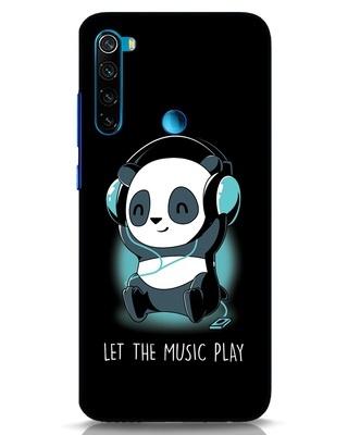 Shop Panda Headphones Xiaomi Redmi Note 8 Mobile Cover-Front