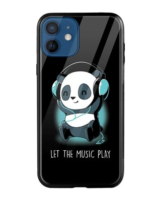 Shop Panda Music Play iPhone 12 Mini Mobile Cover-Front